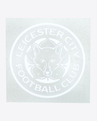 LCFC Small White Car Crest Sticker