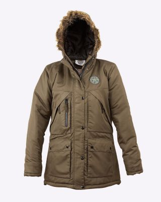 LCFC Girls Parka Coat Khaki