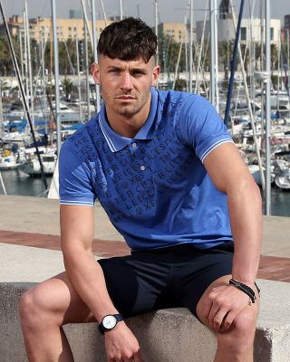 LCFC Mens Blue Terrace Polo