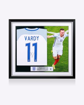 Official England Vardy Signed Shirt