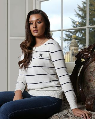 Fox & Crop Womens Stripe Jumper