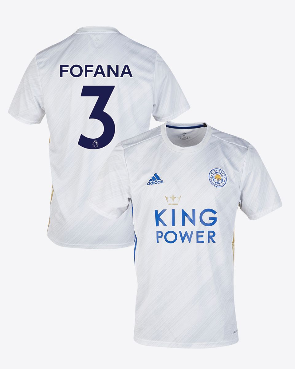 Leicester City White Away Shirt 2020/21