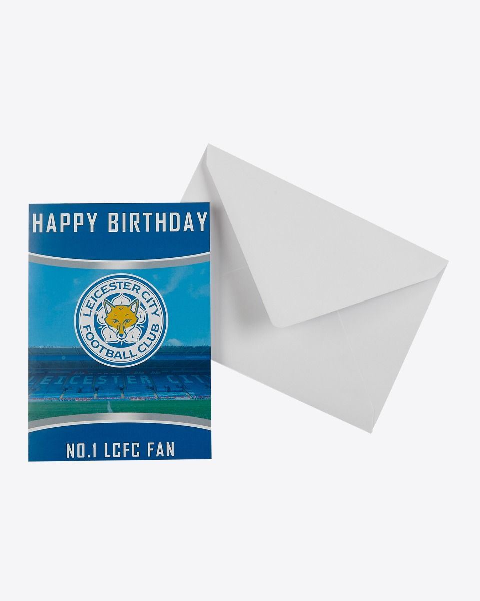 Personalised Greetings Card Leicester City F.C CREST